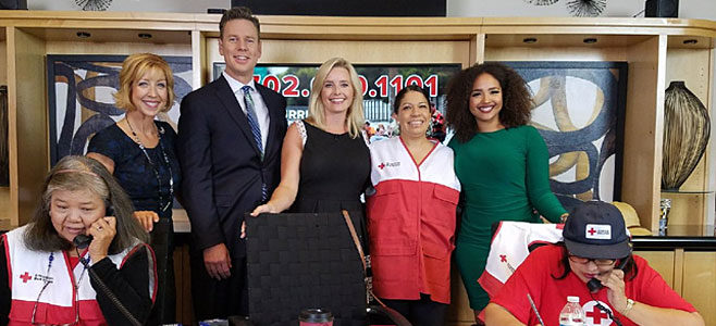 Volunteering for Red Cross hurricane relief telethon with the 8 News Now team