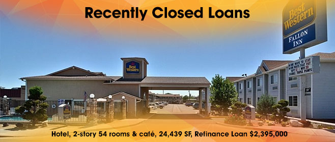 Recently closed commercial real estate loan