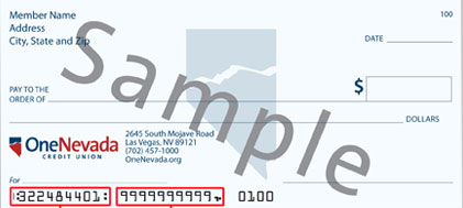One Nevada check sample