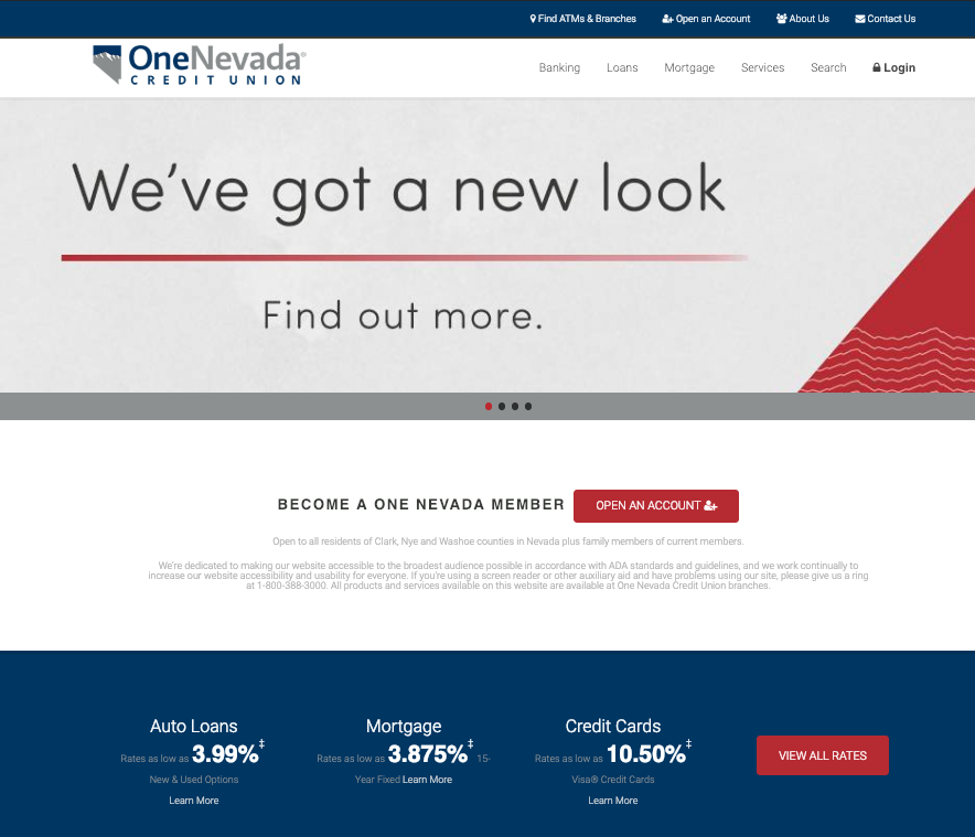 Web Welcome One Nevada Credit Union